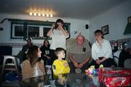 Young Justin Bieber with family