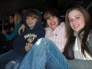 Justin with Christian and Caitlin