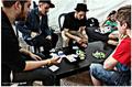 Justin playing poker 2011