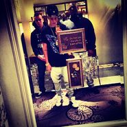 Justin with Ryan and Corey in London