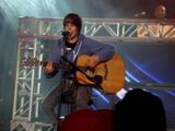Justin playing guitar at Canada's Wonderland
