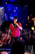 Justin during the MuchMusic Video Awards June 2010