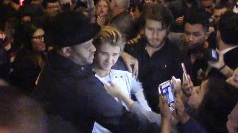 Justin Bieber Swarmed By Fans At 21st Birthday Bash In Vegas