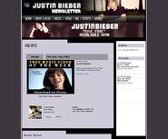 Justin Bieber newsletter 2009