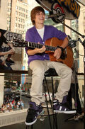 Justin Bieber performing at the Nintendo World Store