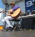 Justin playing guitar at Family Frenzy '09