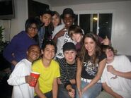 Justin Bieber hanging out with friends 2009