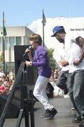 Justin singing at Family Frenzy in Syracuse