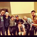 Justin with the crew