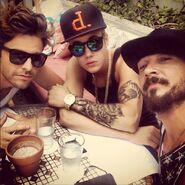 Justin with Ryan Good and Carl Lentz