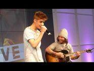 Justin Bieber - Boyfriend incl. Bluesy Version - Acoustic @ The Squaire Frankfurt Germany 11.09
