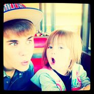 Justin and Jazzy at waffle house