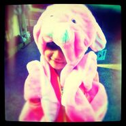 Jazzy as pink bunny