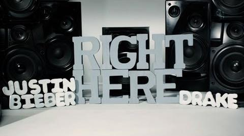 Justin Bieber - Right Here (Lyric Video) ft