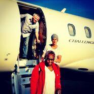 Justin Bieber September 2012 plane