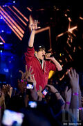 Justin Bieber performs during the MuchMusic Video Awards June 2010