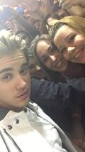 Justin Bieber taking a picture with fans March 14, 2015