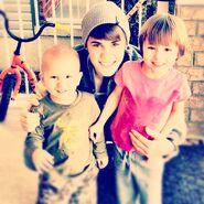 Justin and his siblings