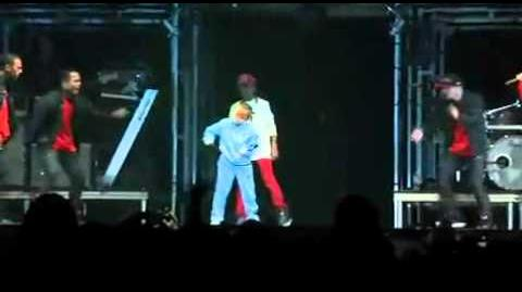 Justin Bieber , Jaden Smith and Jalen dance