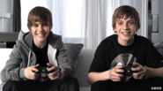 Justin and Ryan playing video games in One Time