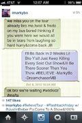 Justin Bieber texting imarkybo