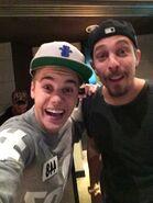 Justin Bieber in the studio with Josh Gudwin