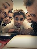 Justin Bieber with friends March 2015