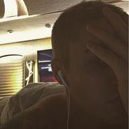 Justin Bieber small cross tattoo