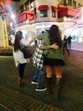 Justin Bieber hugging fans 2014
