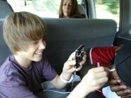 Justin Bieber messing with DJ Tay James