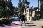 Justin Bieber playing golf with Alfredo Flores