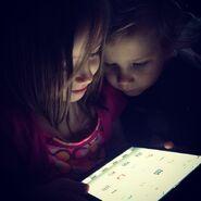 Justin's siblings on iPad