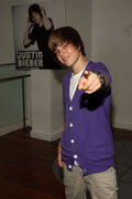 Justin Bieber at Nintendo World Store