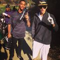 Justin Bieber and Lil Za golfing