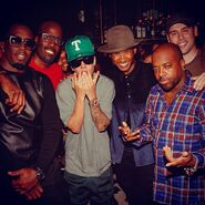Justin Bieber at Usher's birthday party