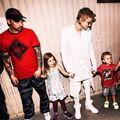 Justin Bieber with family at Believe Tour