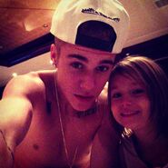 Justin takes a picture with Jazzy