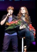 Justin Bieber sings OLLG for Caitlin Beadles