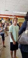 Justin Bieber talking to a fan in New Windsor
