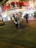 Bieber hugging a fan October 2014