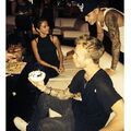Justin Bieber celebrating Ryan Butler's birthday