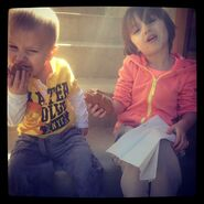 Jaxon and Jazzy eating