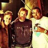 Justin Bieber, Chuck Norris and Sean Kingston