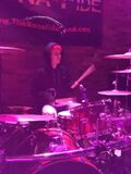 Justin Bieber playing the drums at The Venue