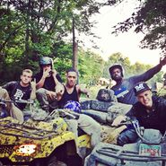 Justin Bieber having fun with friends