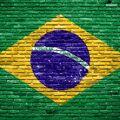 Brazil flag on stones