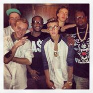 Justin Bieber and his crew