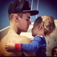 Justin and little spiderman