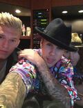 Justin Bieber and Cody Simpson in the studio with Dan Kanter