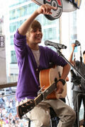 Justin Bieber performing at the Nintendo World Store in NYC, 2009